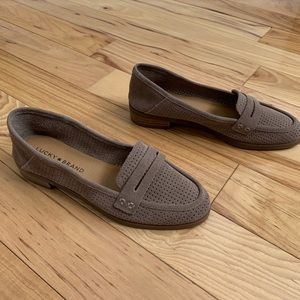 LUCKY BRAND Loafer Soft Perforated Leather Suede